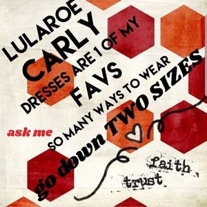 LULAROE CARLY YOU NEED TO TRY SEE DESCRIPTION
